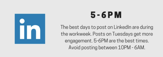 Best times to post on LinkedIn - Best Times to Post on Social Media [Infographic]