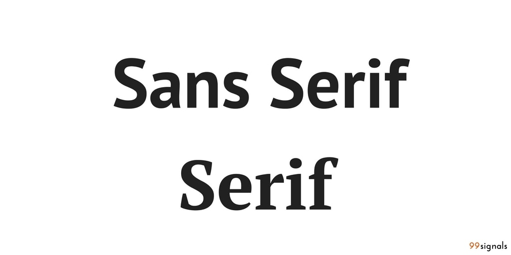 Serif & Sans Serif - Design terms for marketers