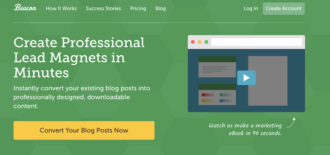 Convert your blog posts into eBooks or resource guides with the Beacon plugin.