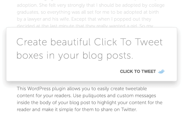 Click to Tweet WordPress Plugin - Essential WordPress Plugins