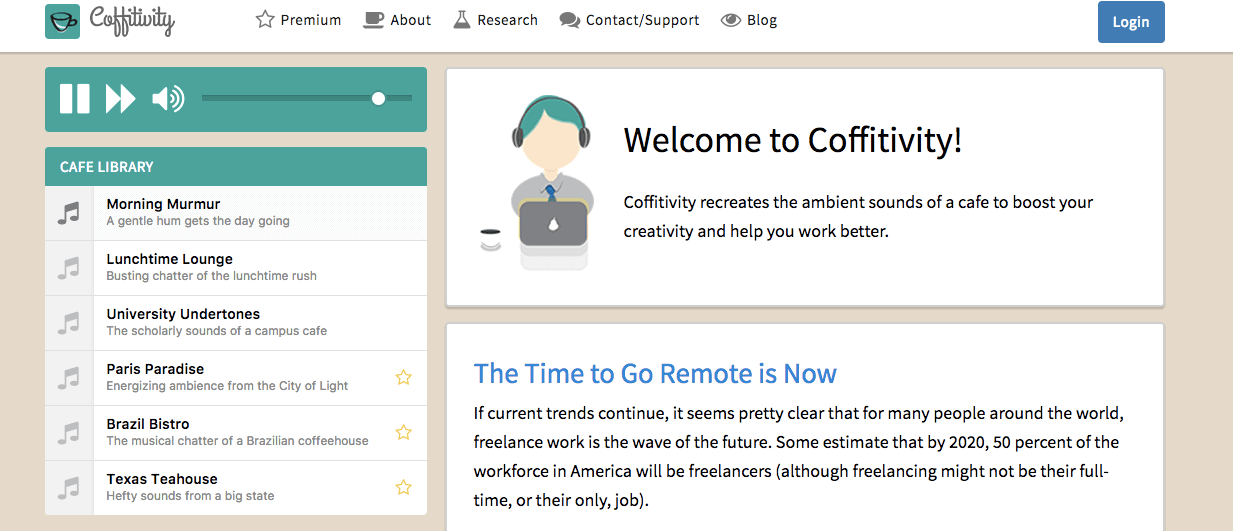 Coffitivity - Recommended Resources for Blogging
