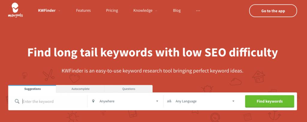 KWFinder - Blogging Tools