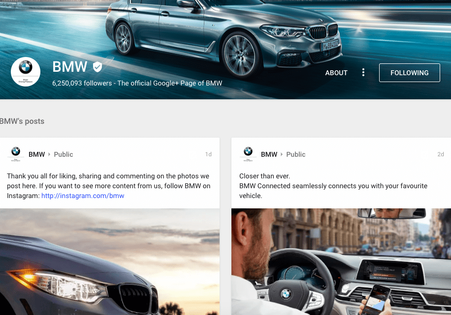 bmw-page-on-google