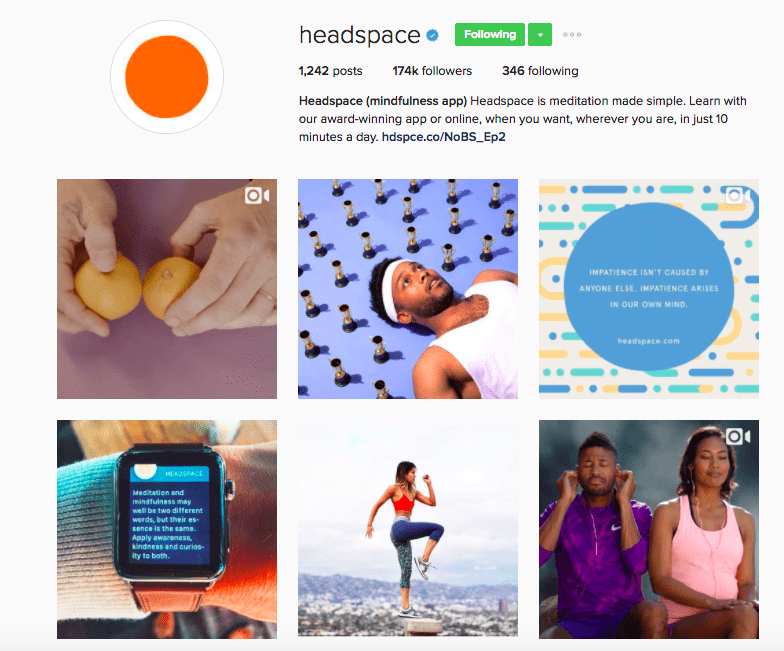 best-instagram-brands-headspace