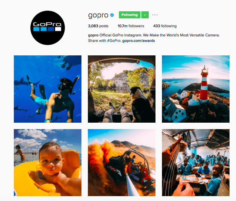 Best Brands on Instagram - GoPro