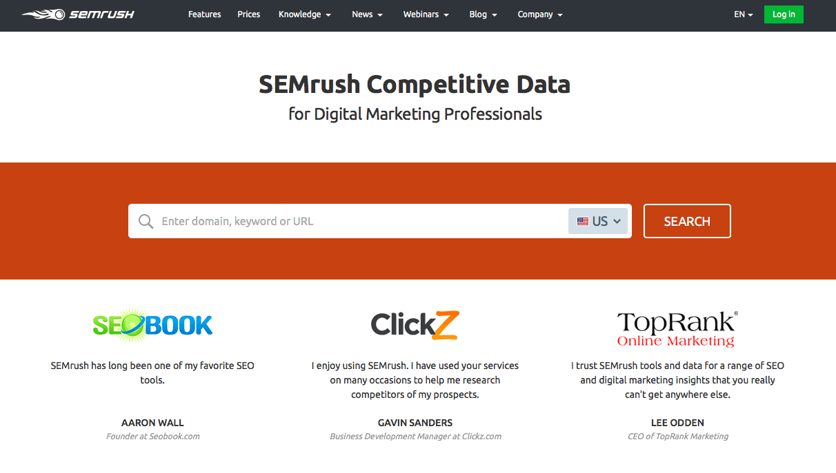 SEMrush is the go-to SEO tool for many SEO experts. It's packed with features that can truly boost your site's traffic.