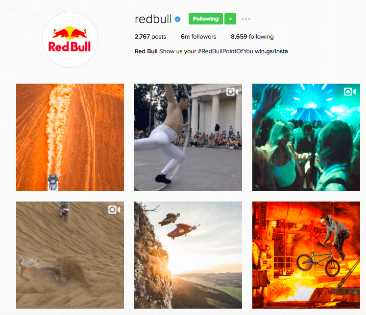 Best Brands on Instagram - RedBull's Instagram Feed