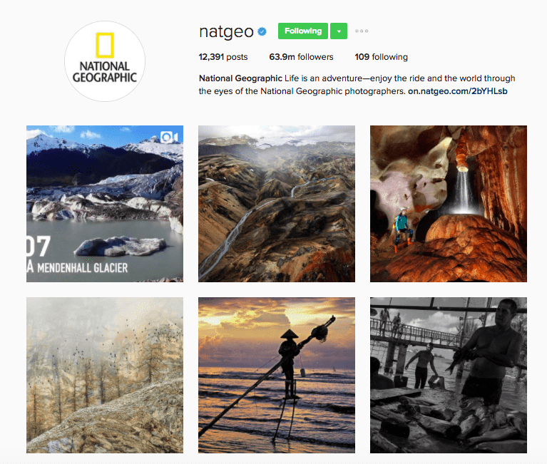Best Brands on Instagram - NatGeo