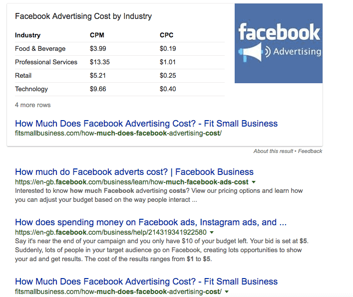 """How to Rank in Google's Featured Snippets (aka Position 0 on Google) - """"Facebook Ads"""""""
