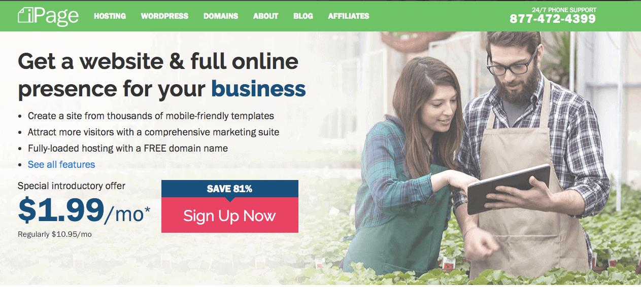 Best web hosting companies 2017_ipage