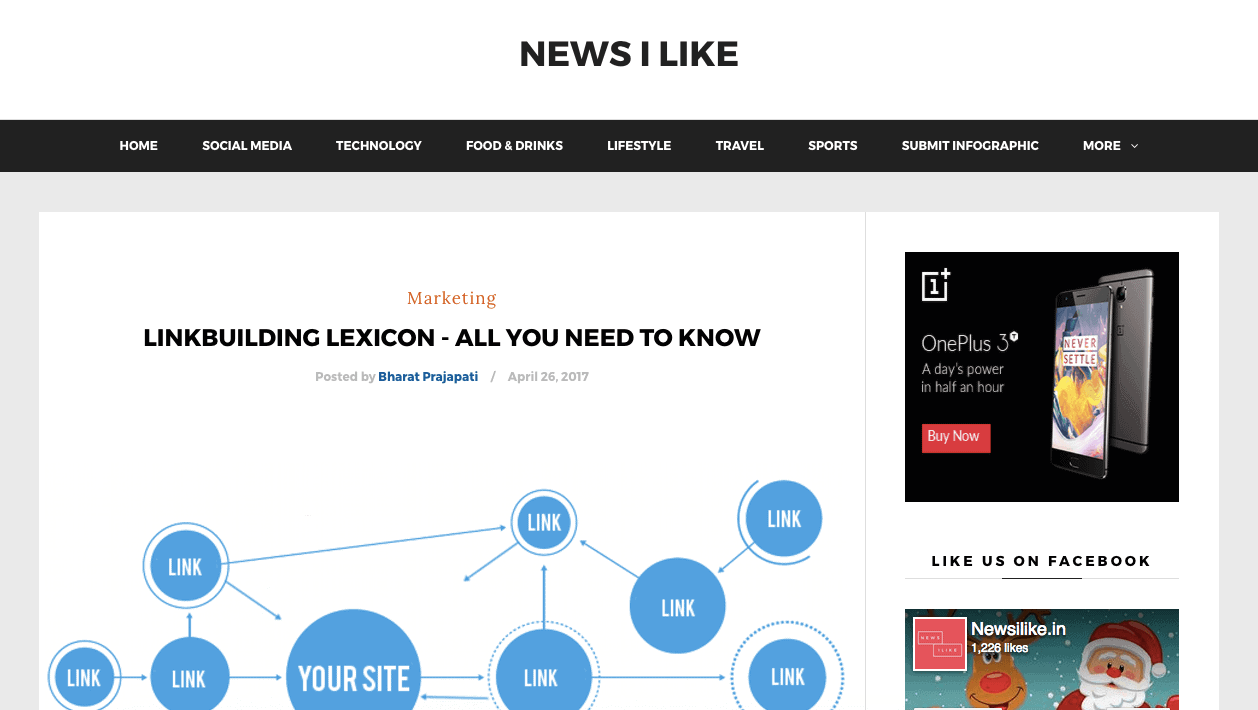 News I Like was started in 2010 with an intention to feature stories from around the world displayed visually.