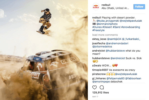 Red Bull on Instagram - Instagram Organic Reach