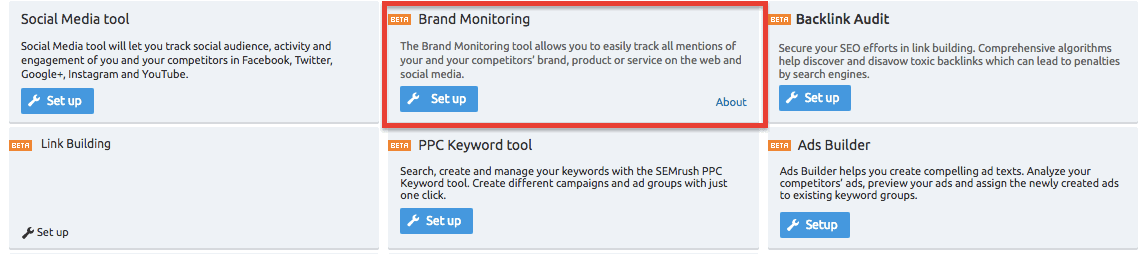 Brand Monitoring Tool - SEMrush
