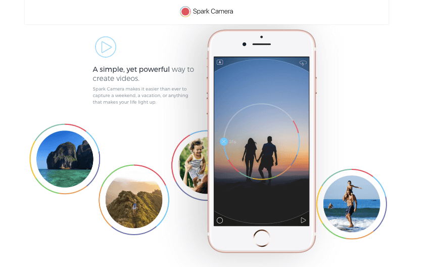 Spark Camera - iPhone Apps for Marketing Professionals