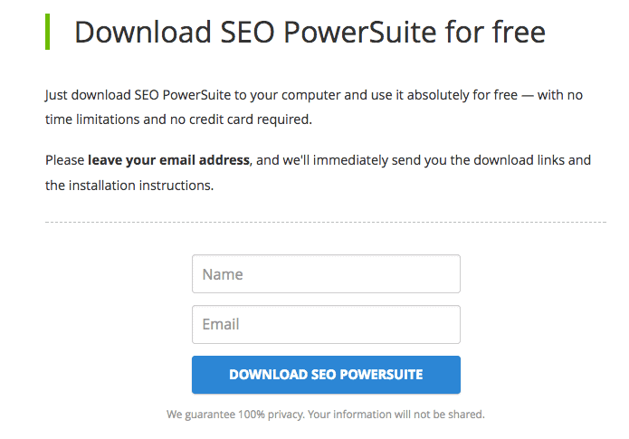SEO PowerSuite Review - Setting up PowerSuite