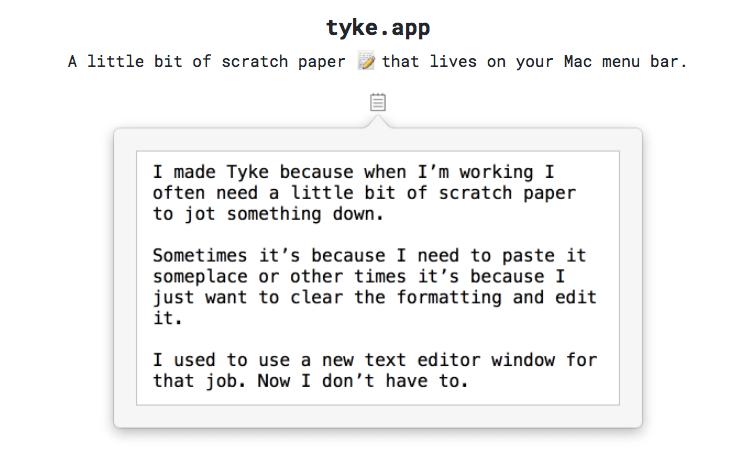 Tyke App for Mac