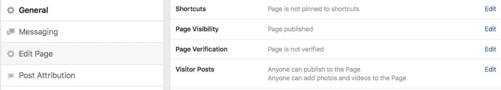 Facebook Page Verification Process
