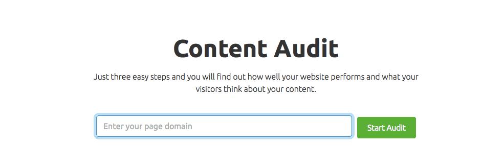 SEMrush's Content Audit Tool
