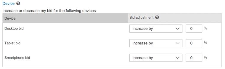 Bing Device Targeting