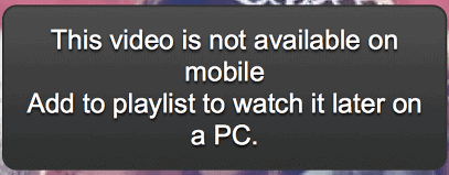 Video Not Playable