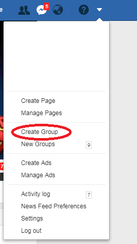 Create Facebook Group