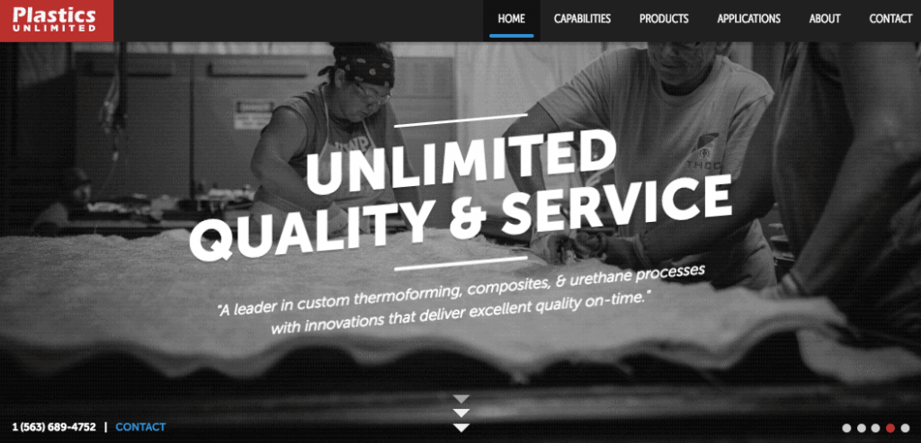 Best Single Page Websites - Plastics Unlimited
