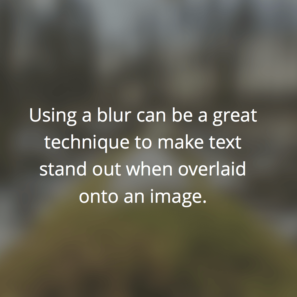 Blur Example