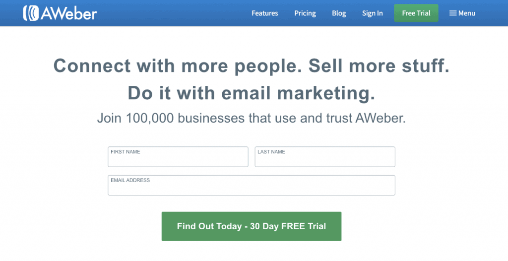 AWeber - Recommended Blogging Tools
