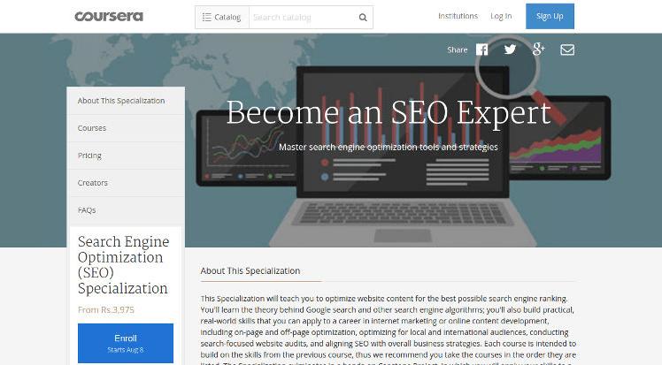 Coursera SEO Courses