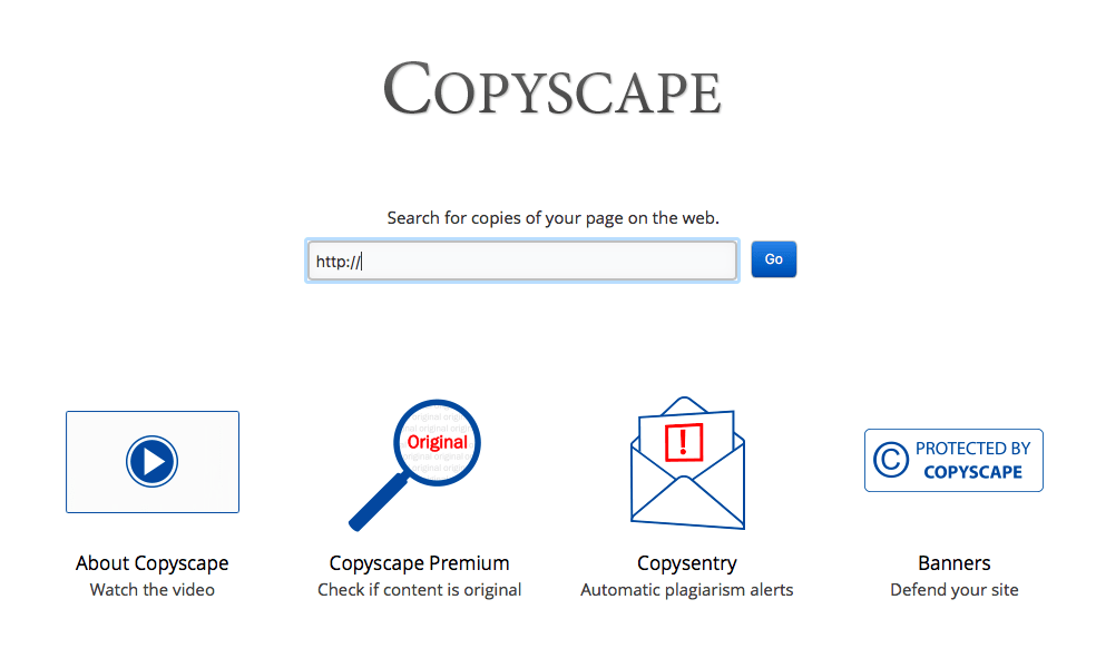 Copyscape is the industry-leading tool for detecting plagiarized content and can help you prevent plagiarism of content on your site.