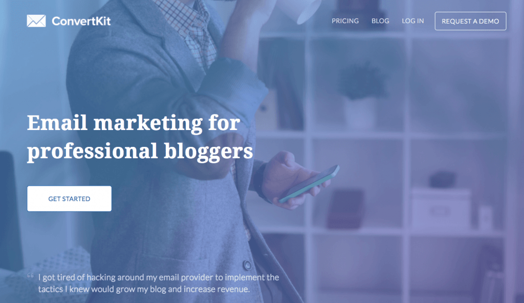 ConvertKit is a preferred email marketing service of several professional bloggers including Pat Flynn from Smart Passive Income.