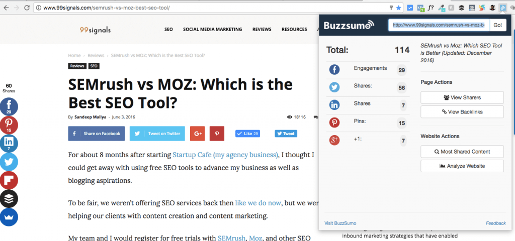 12 of the Best Chrome Extensions for SEO - Buzzsumo
