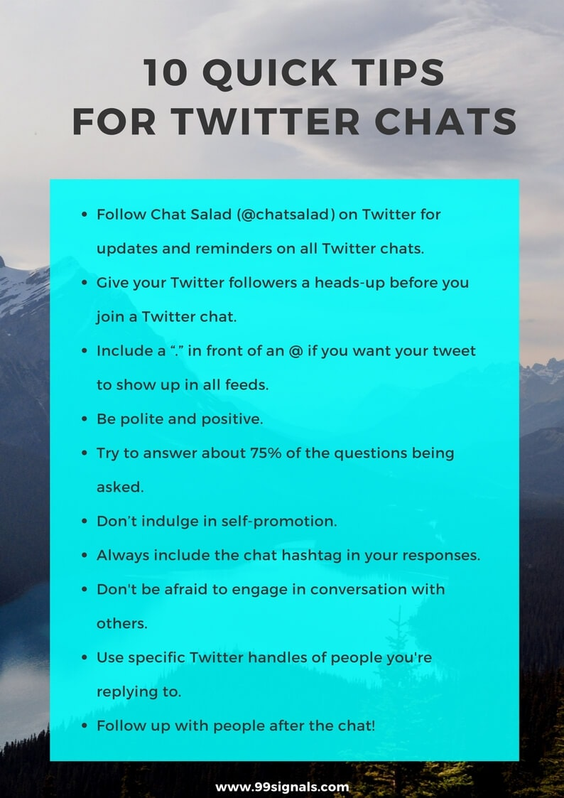10 Quick Tips for Twitter Chats