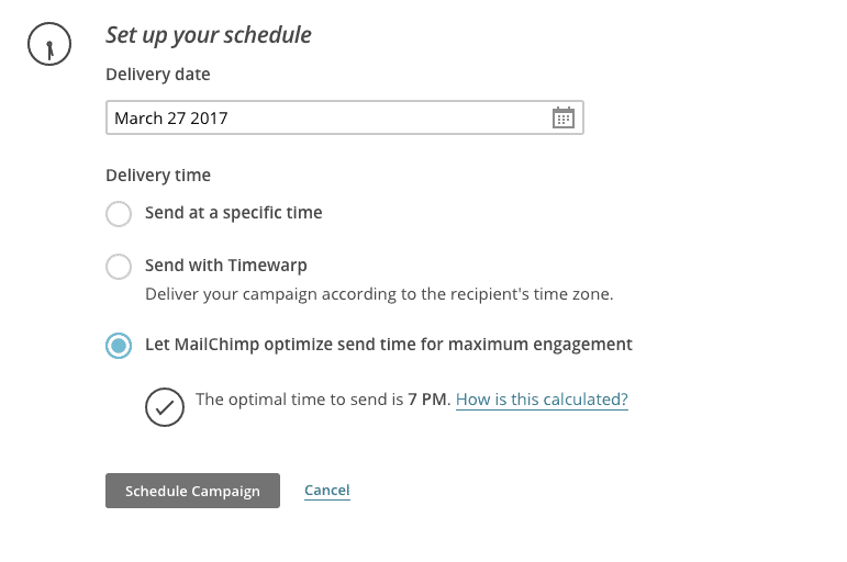 MailChimp Review: Send Time Optimization
