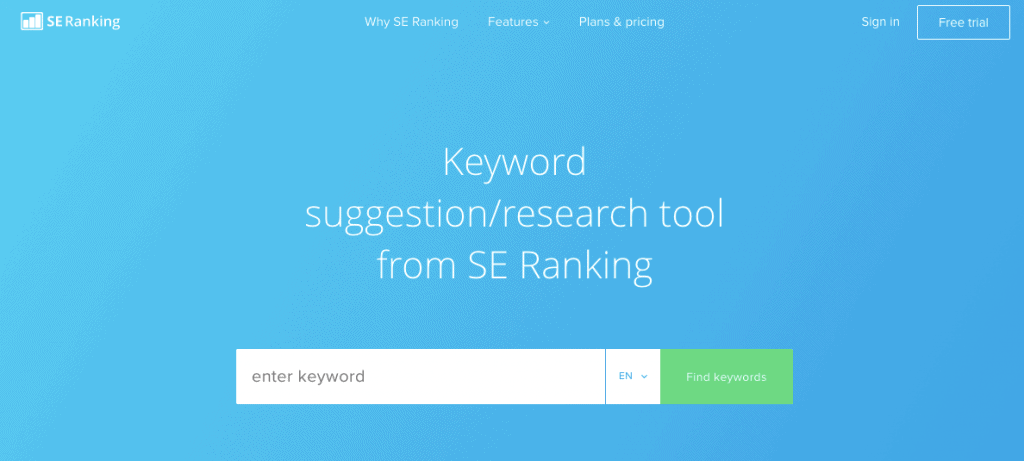 SE Ranking - Keyword Research Tool