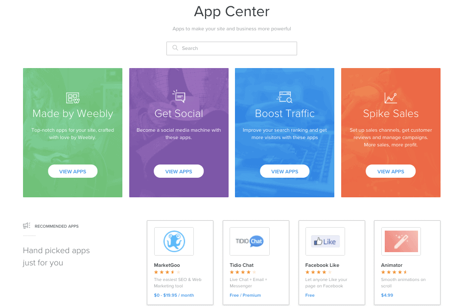 Weebly App Center - Weebly Review