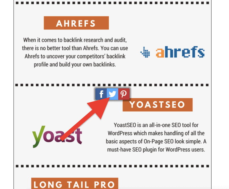 Infographic Image Sharer Plugin - High quality backlinks for infographics