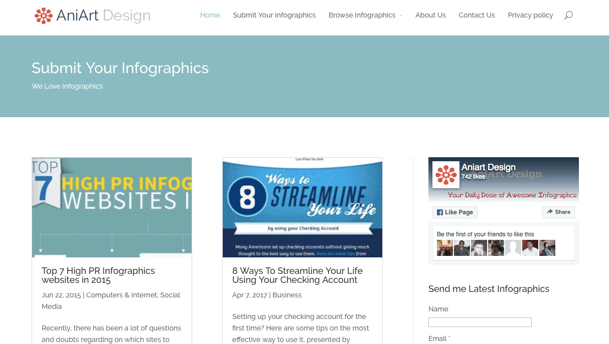 Aniart Design is a high quality user maintained infographics directory.