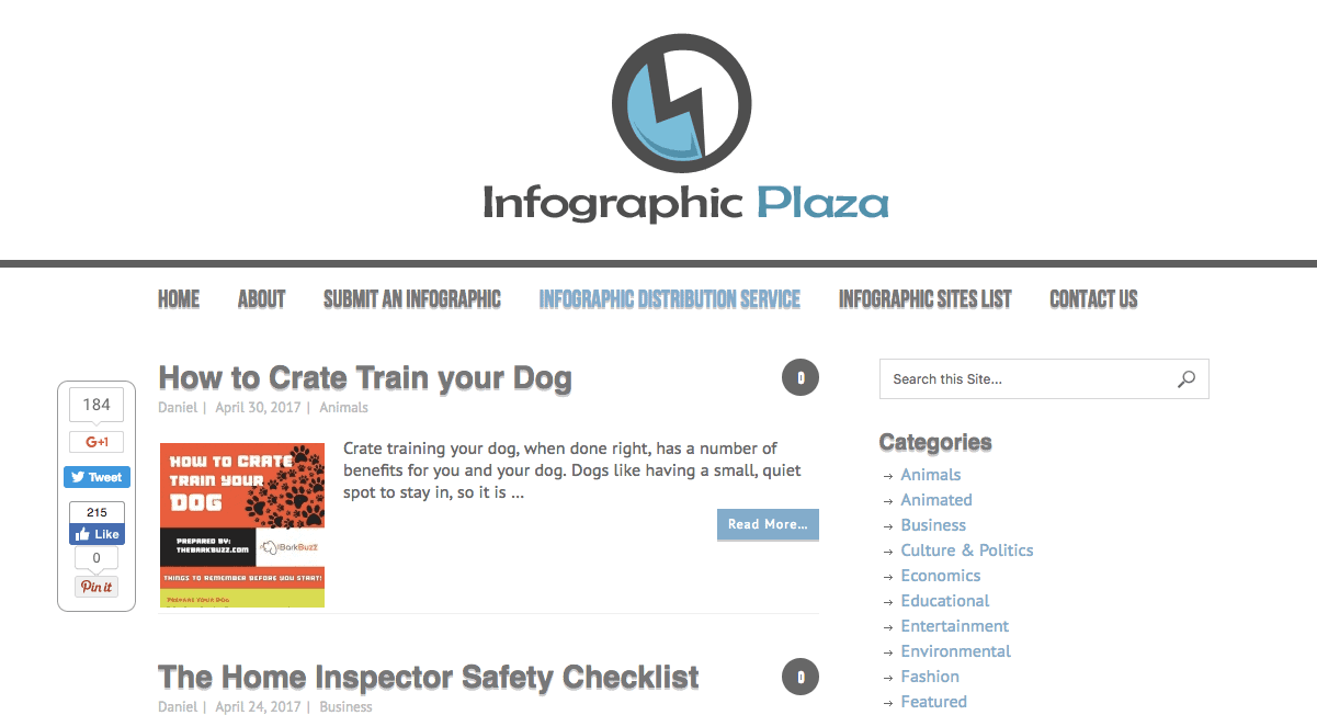 Infographic Submission Sites: Infographic Plaza is an infographic blog that showcases great infographics, cool infographic ideas and infographic inspiration.