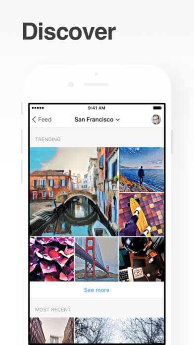 Prisma for Business - Prisma transforms your photos into artworks using the styles of famous artists: Munk, Picasso as well as world famous ornaments and patterns.