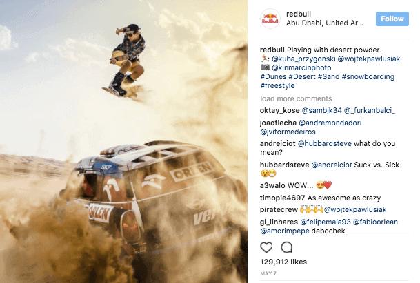 Red Bull on Instagram - Instagram Organic Reach