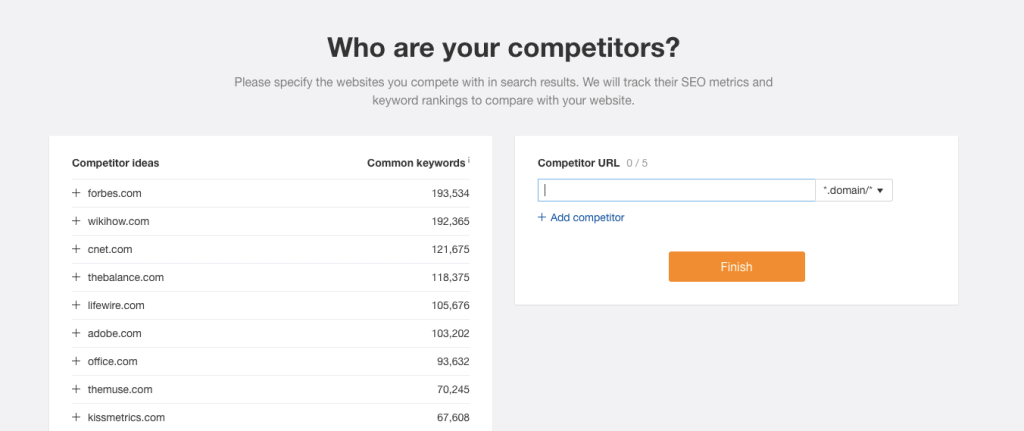 Ahrefs Review - Competitors