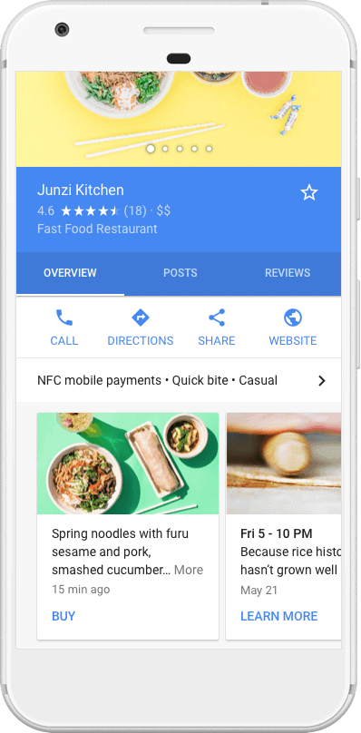 Google Posts on GMB