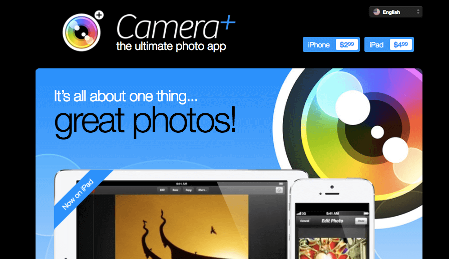 Camera+ for iPhone - iPhone Apps for Marketing Professionals