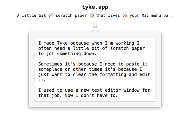 Tyke App for Mac