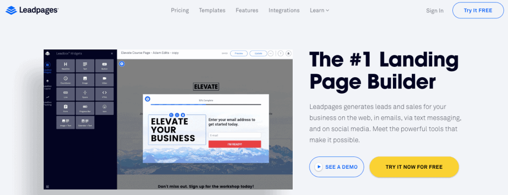 Leadpages - Landing Page Builder