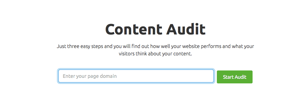 SEMrush's Content Audit Tool