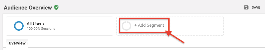 Add Segment - Google Analytics