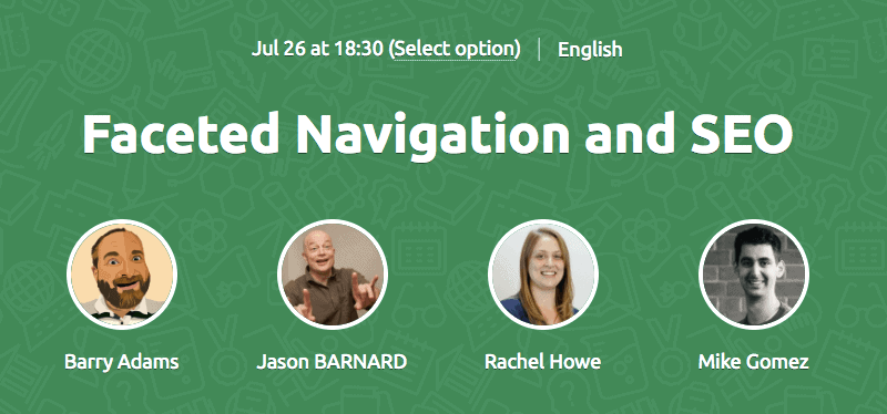Faceted Navigation SEO Webinar