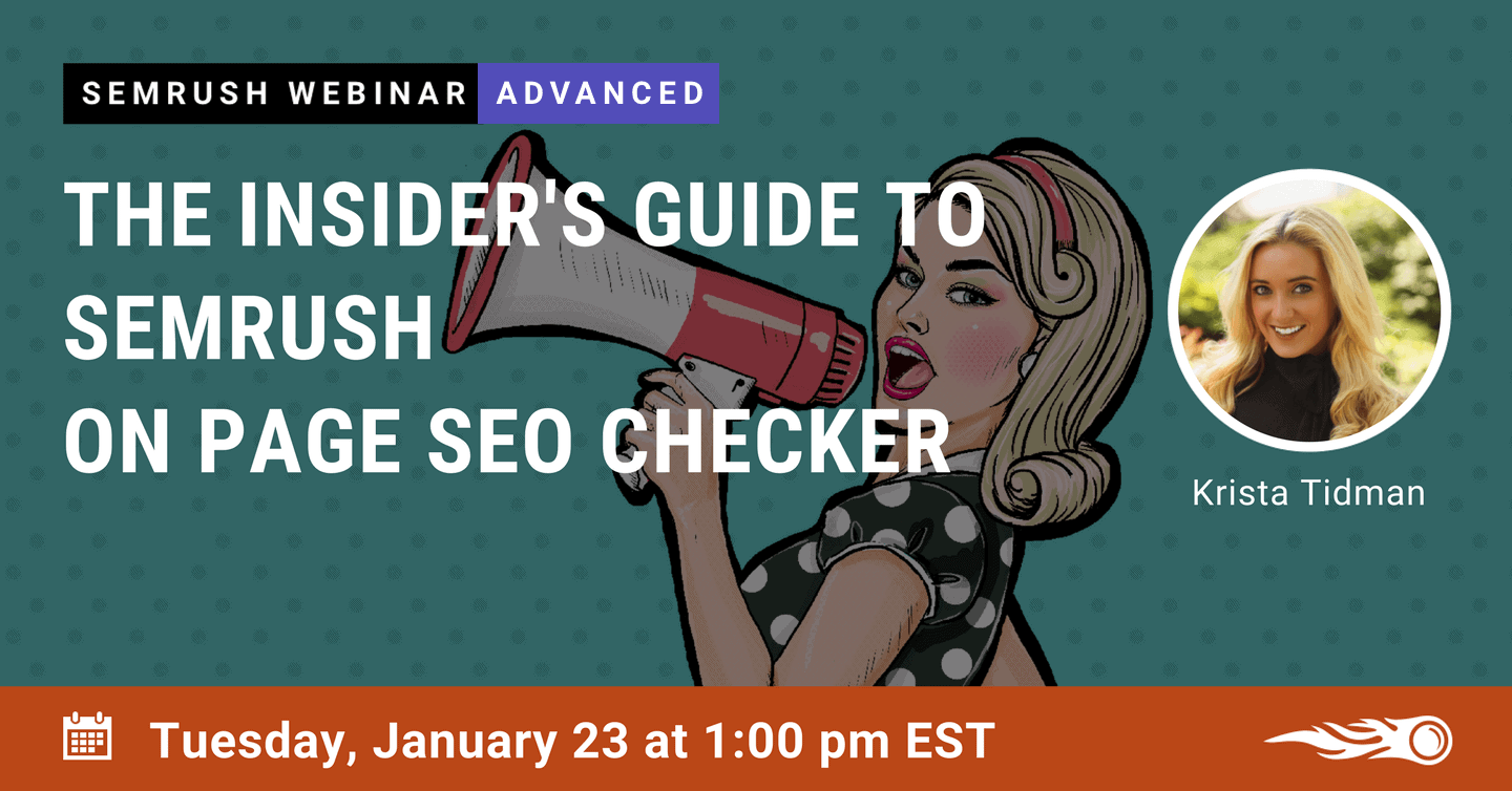 On Page SEO Checker Webinar by SEMrush